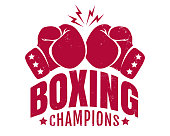 Emblem for boxing champions.