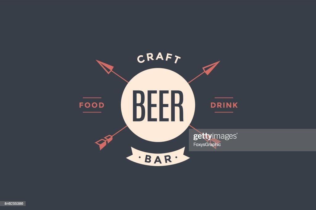 Emblem of Beer bar with arrows