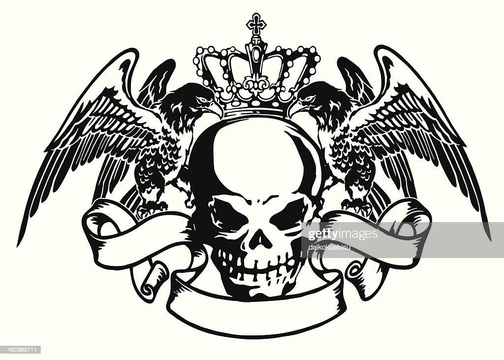 emblem of skull and eagle