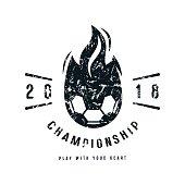 Emblem of soccer championship