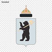 Emblem of Yaroslavl. Vector illustration