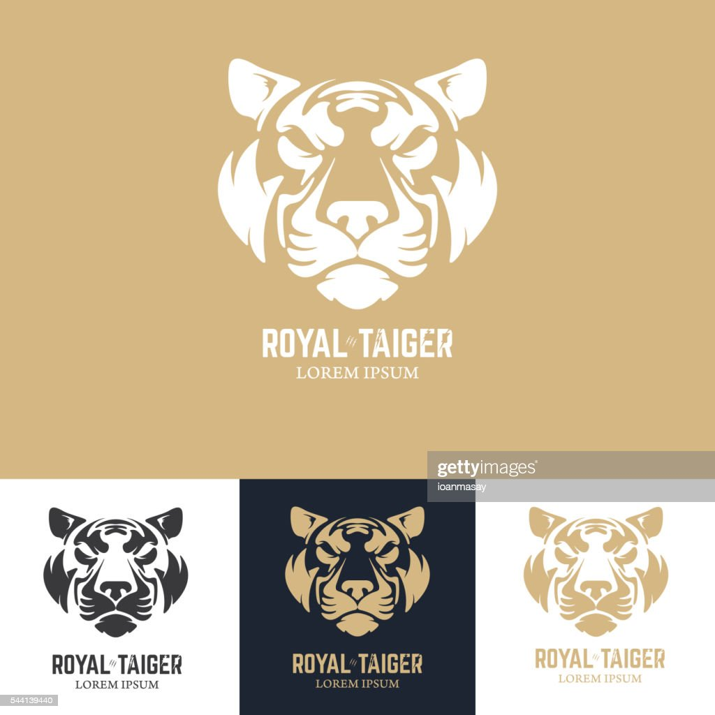 Emblem template with tiger head.