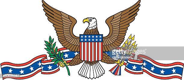 usa emblem with eagle - bald eagle stock illustrations