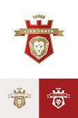 Emblem with lion head
