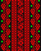 Embroidered cross-stitch pattern Palestinian national