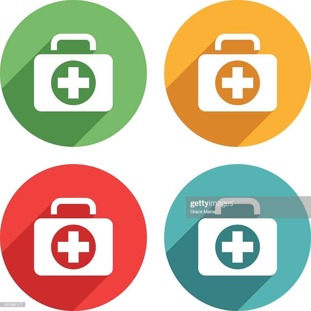 Emergency box kit icons - VECTOR