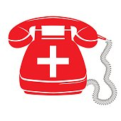 emergency call sign icon vector fire phone number button