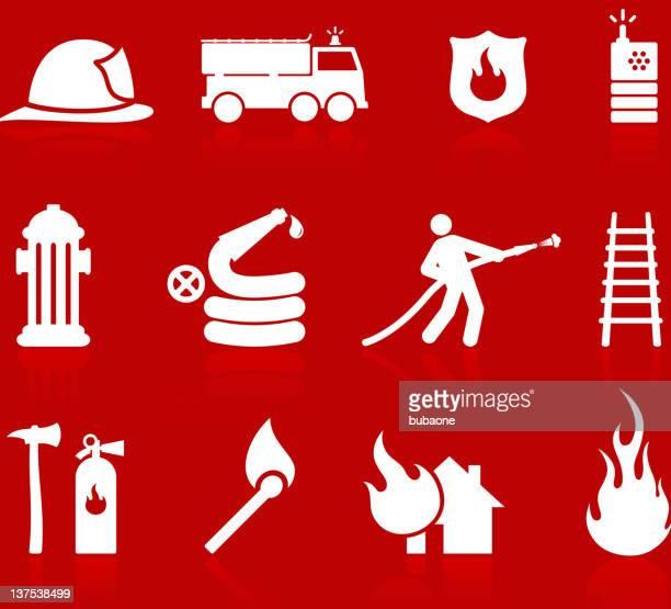 Emergency Fireman red iscon set
