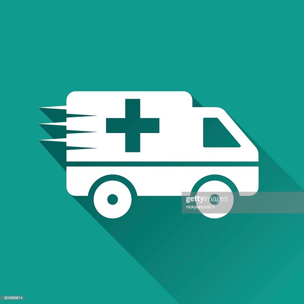 emergency flat design icon