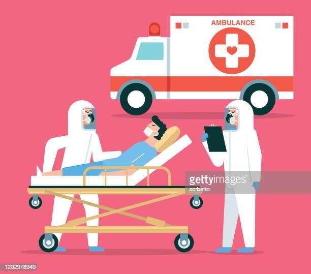 emergency medical services - ambulance stock illustrations