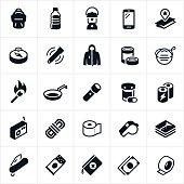 Emergency Preparedness Supplies Icons