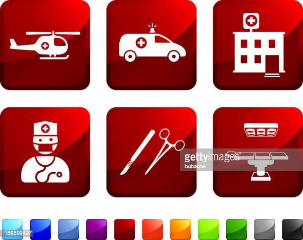 緊急の手術ロイヤリティフリーのベクターアイコンセット - 手術台点のイラスト素材/クリップアート素材/マンガ素材/アイコン素材