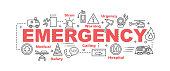 emergency vector banner