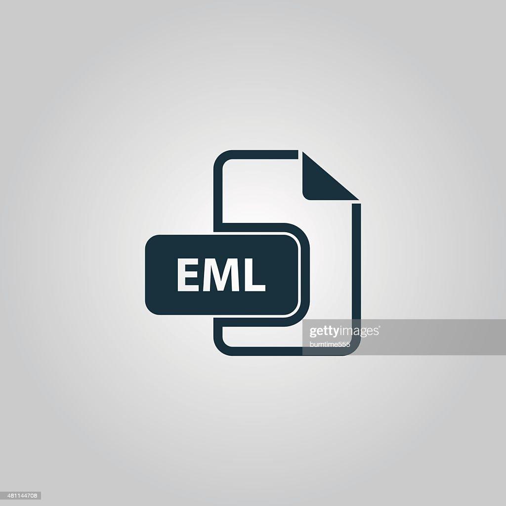 Eml file format icon vector