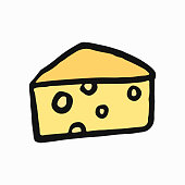 Emmental de Savoie, French cheese illustration