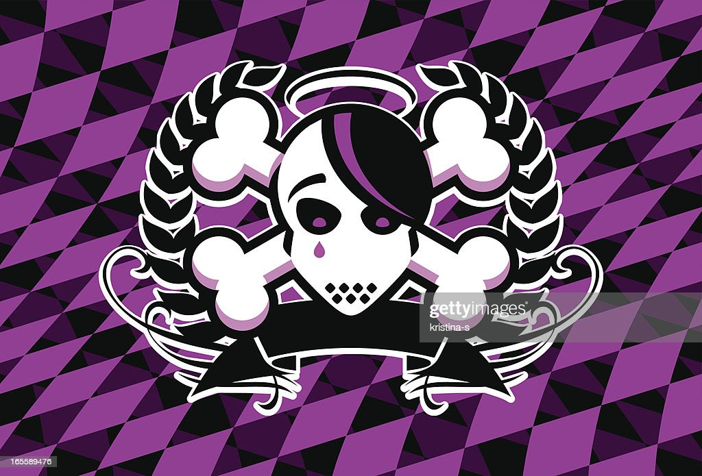 Emo Skull Crest