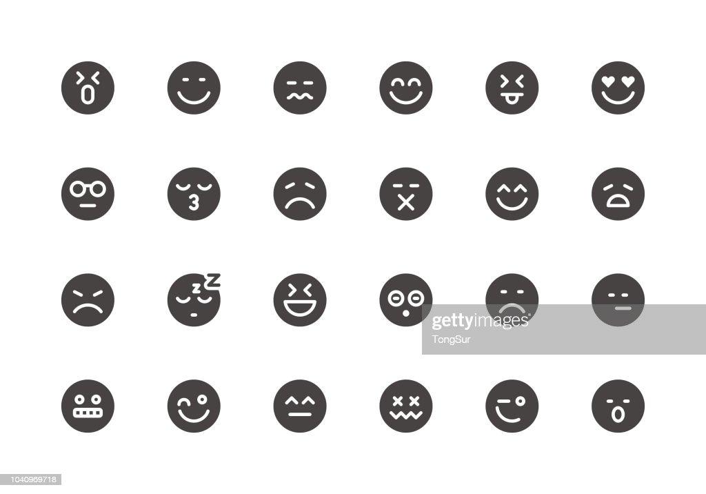 Emoji - Glyph Icons : stock illustration