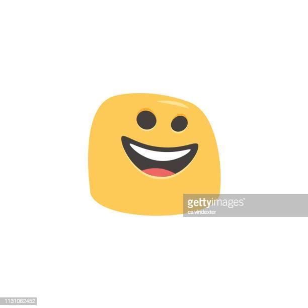 Dessin animé dessiné à la main d'Emoji et style coloré