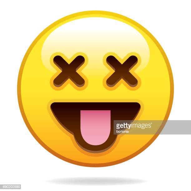 emoji icon - sticking out tongue stock illustrations, clip art, cartoons, & icons