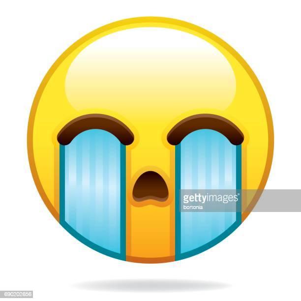 emoji icon - crying stock illustrations, clip art, cartoons, & icons