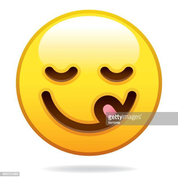 emoji icon - licking stock illustrations, clip art, cartoons, & icons