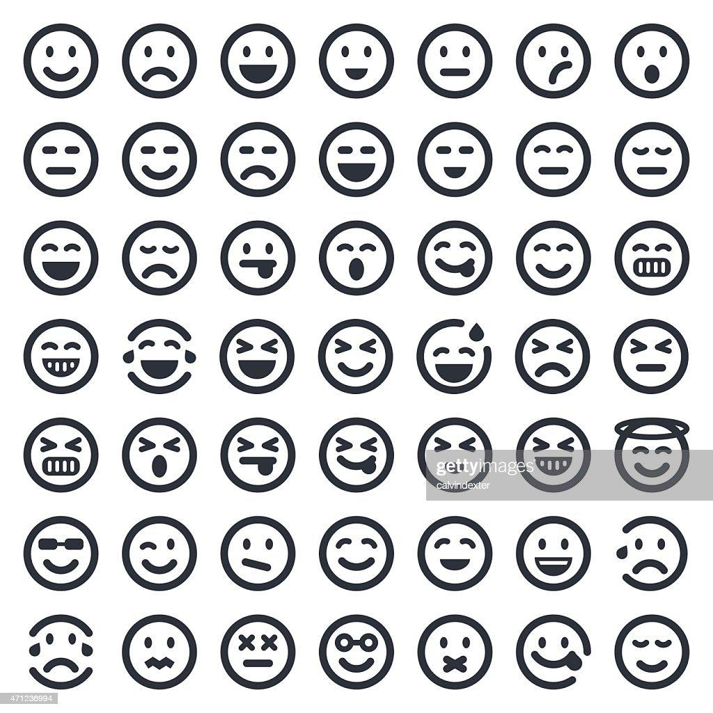 Emoji icons set 1 | 49ers Series : stock vector