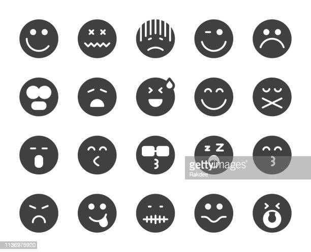 emoji - icons - smiley faces stock illustrations