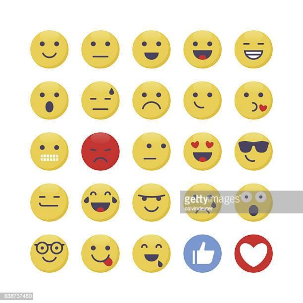 ilustrações, clipart, desenhos animados e ícones de emoji set 1 - relief emotion