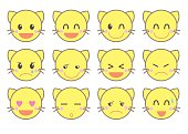 emoji vector icon set / cat version