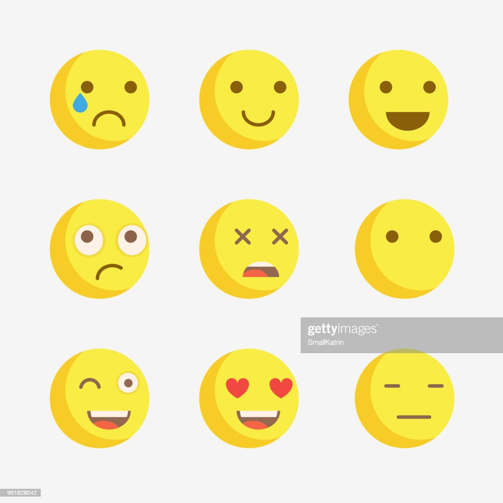 Emoji. Vector icons emoji. Expressionless emoji.