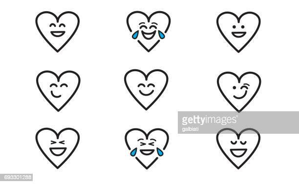 emojis heart 1 - laughing stock illustrations, clip art, cartoons, & icons