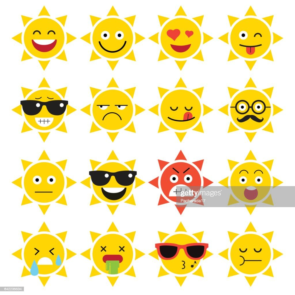emojis. sun. sunlight.
