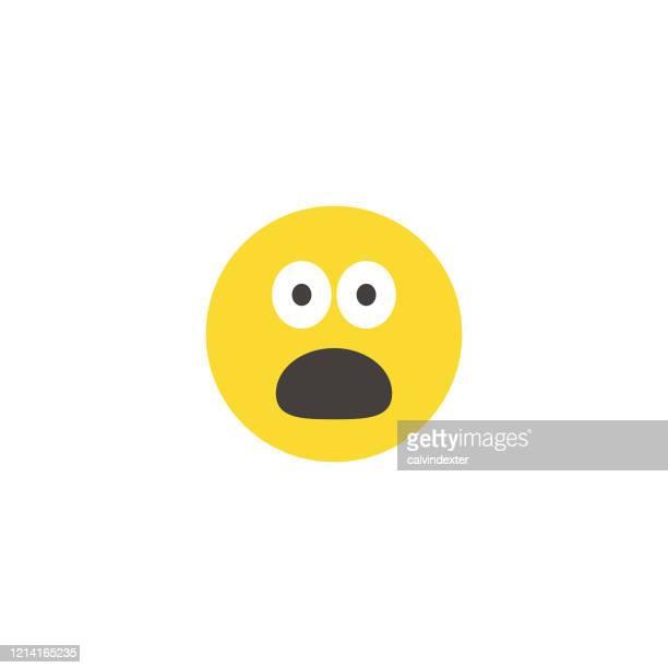 顔文字大顔フラットデザインスタイル - ショック点のイラスト素材/クリップアート素材/マンガ素材/アイコン素材