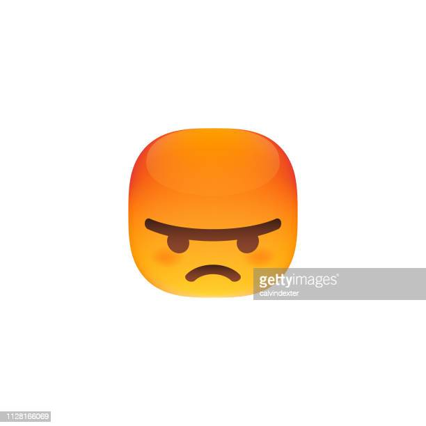 Emoticon cube shaped cute and colorful