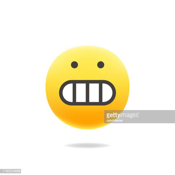 Emoticon cute color realistic shadow