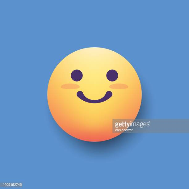 emoticon design element color background shadow effect - good news stock illustrations