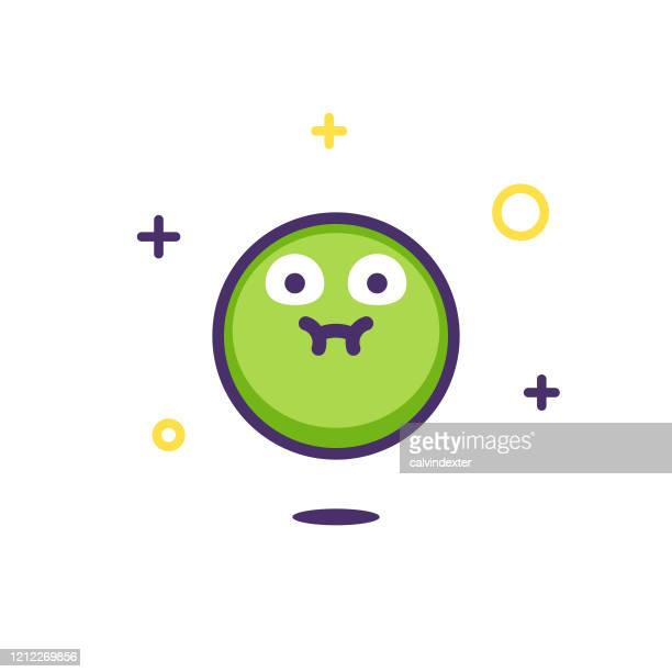 emoticon design with sparks and stars - diarrhea stock illustrations