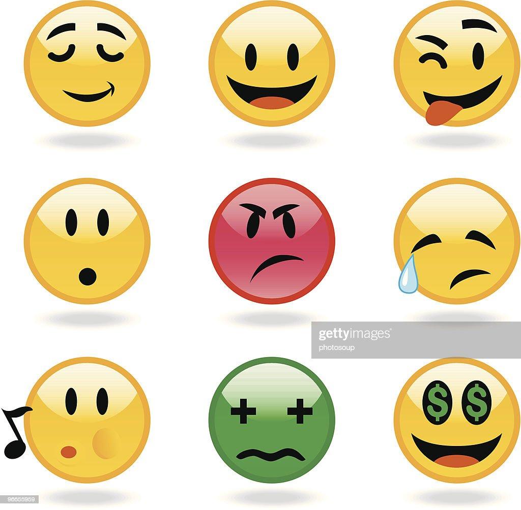 Emoticon faces 2