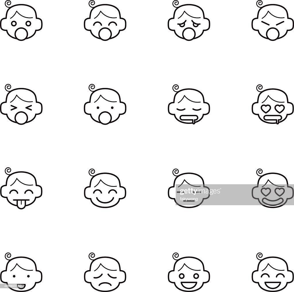 emoticon of baby face icons