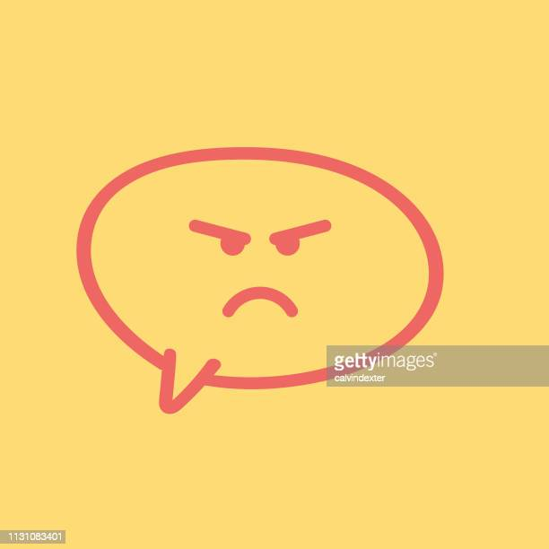 Emoticon on pencil drawing speech bubble