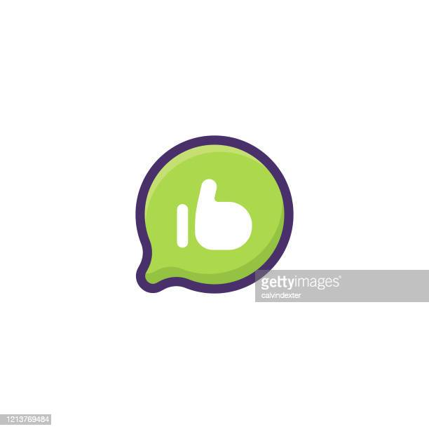emoticon on thought bubble shape - thanks quotes stock illustrations