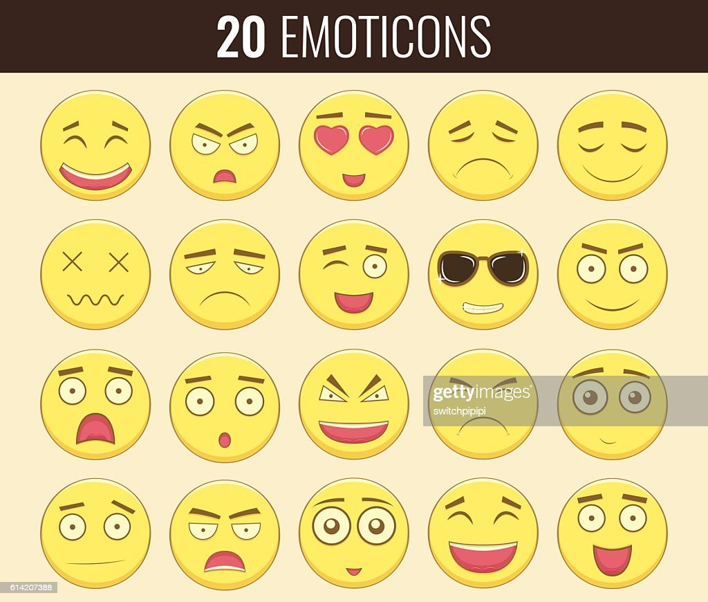 Emoticon set. Emoticon for web site, chat, sms.