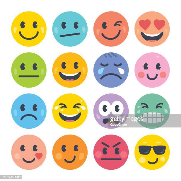emoticon set - anger stock illustrations