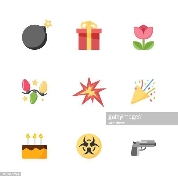 ilustraciones, imágenes clip art, dibujos animados e iconos de stock de colección de emoticonos - bomba