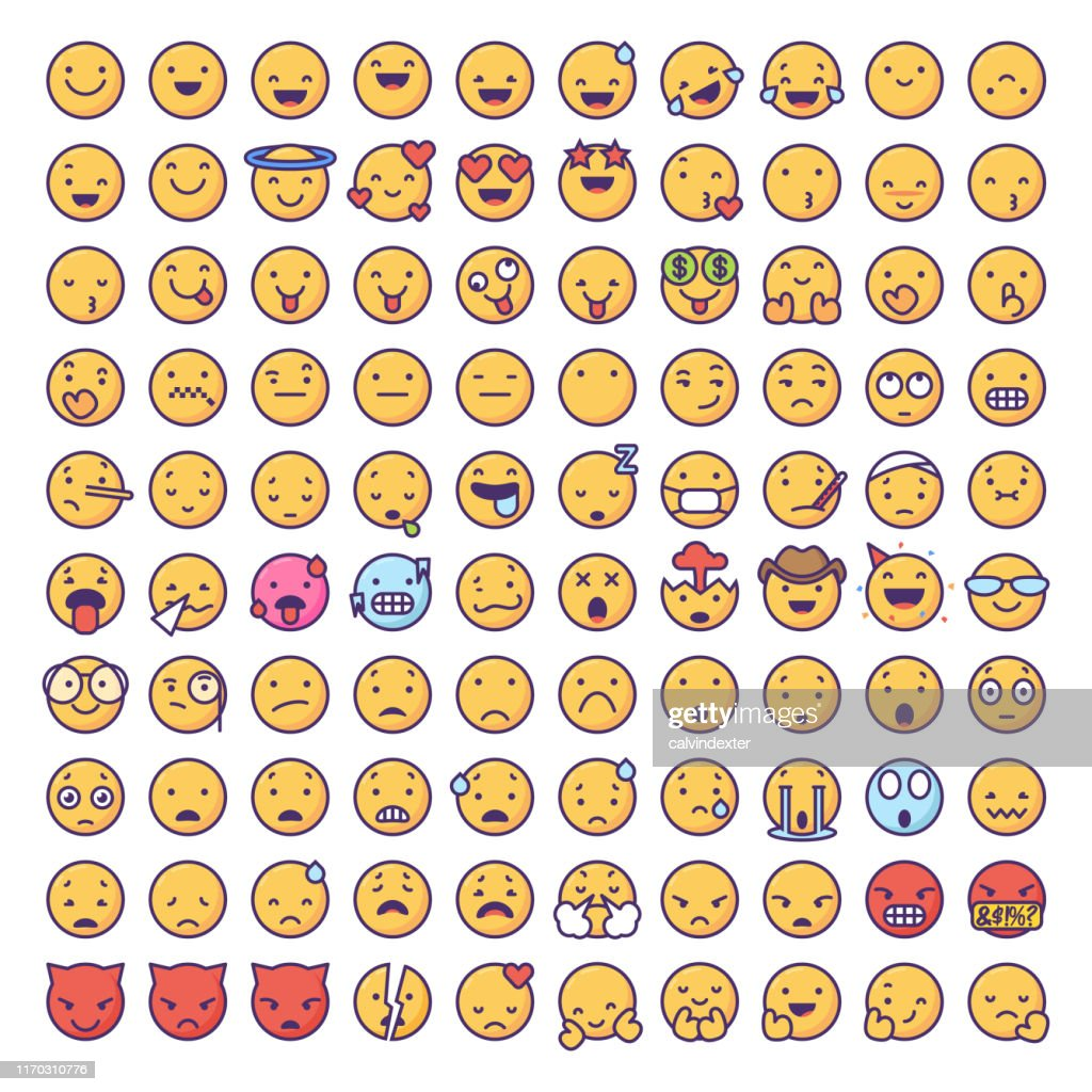 Collection Emoticons : Illustration