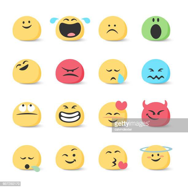 emoticons collection - anthropomorphic stock illustrations, clip art, cartoons, & icons
