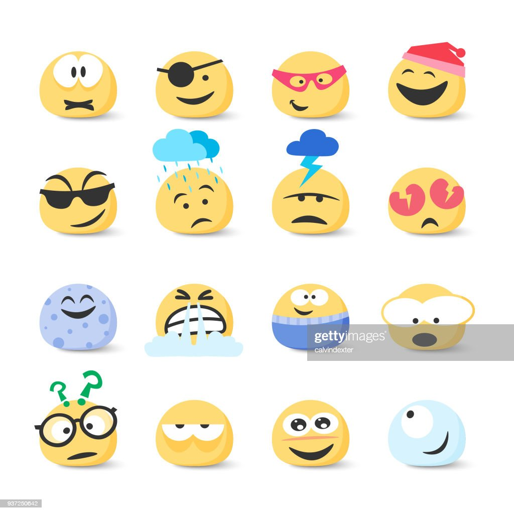 Emoticons collection : stock illustration