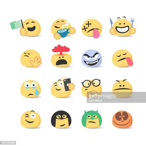 Sammlung von Emoticons