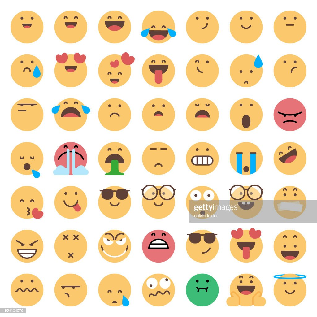 Emoticons collection : stock vector