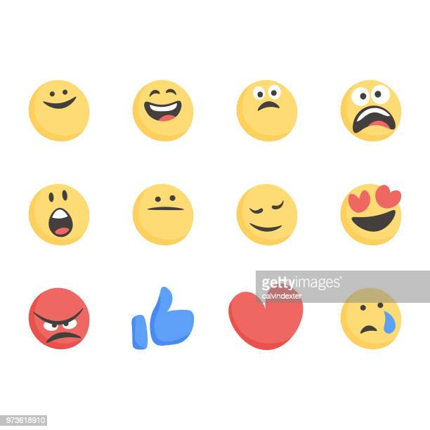 emoticons collection - enjoyment stock illustrations
